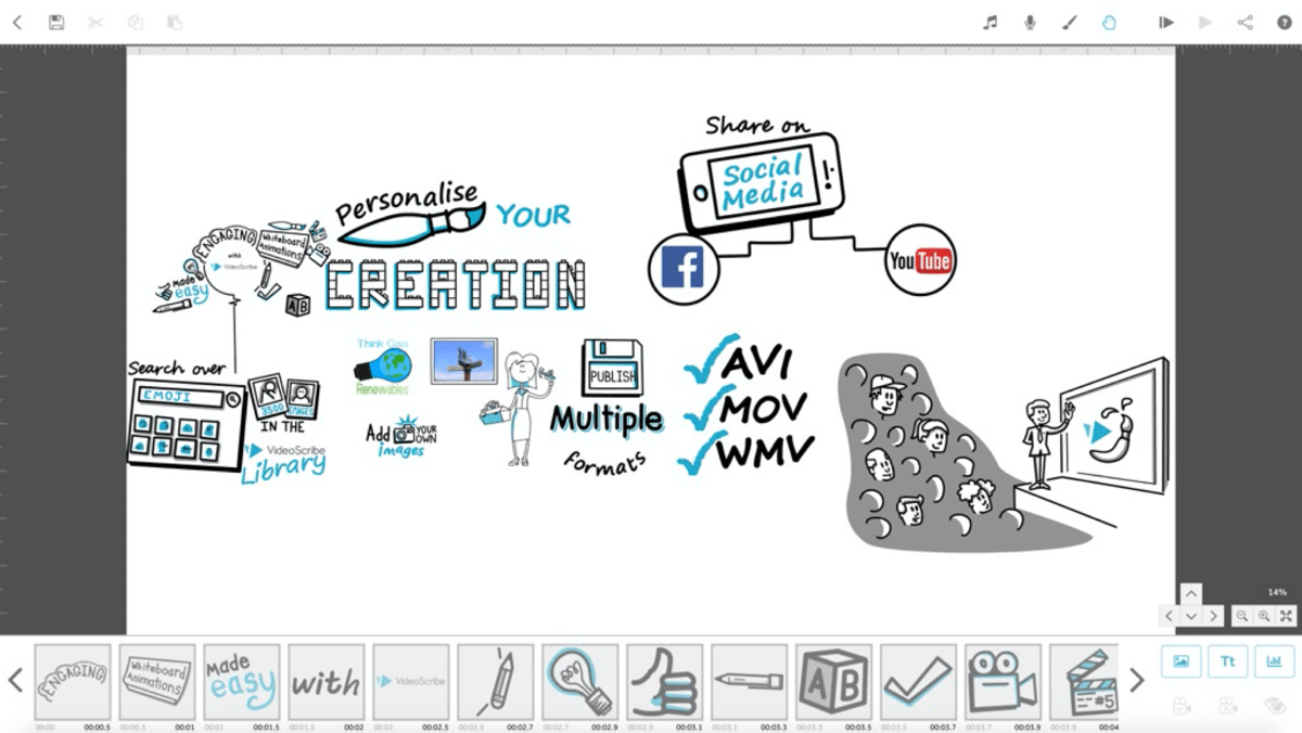 Features of VideoScribe